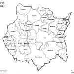 Mapas de Morelos con municipios para colorear
