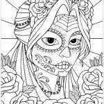 Dibujos del día de muertos para colorear, descargar e imprimir