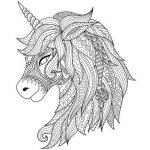 Mandalas de Unicornios para colorear, descargar e imprimir
