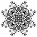 Mandalas de flores para colorear, descargar e imprimir