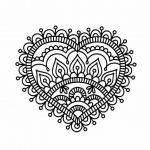 Mandalas de corazones para colorear, descargar e imprimir