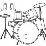Dibujos de Instrumentos de Percusión para colorear, descargar e imprimir