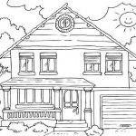 Dibujos de casas, viviendas y hogares para colorear, descargar e imprimir