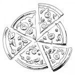 Dibujos de Pizzas para colorear, descargar e imprimir