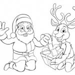 Dibujos Kawaii de Navidad para colorear, descargar e imprimir