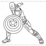 Dibujos de Capitán América para colorear, descargar e imprimir