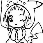 Dibujos Kawaii de Niñas para colorear, descargar e imprimir